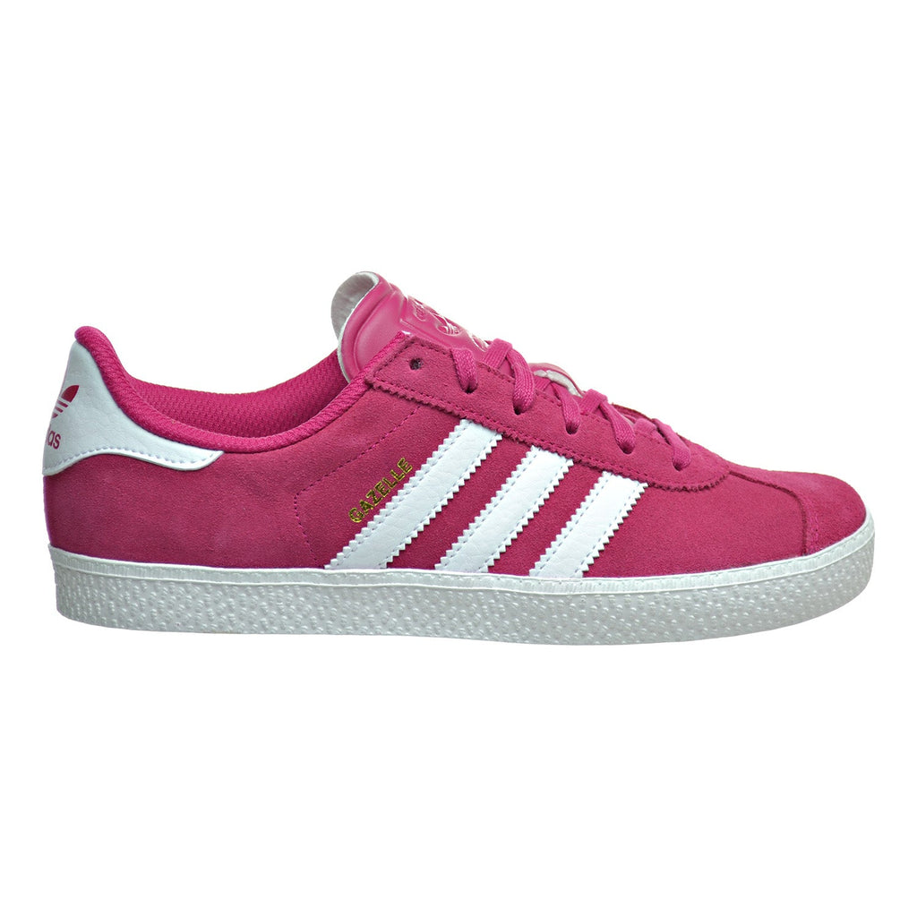 Adidas Gazelle 2 J Big Kid's Shoes Bold Pink/White/White