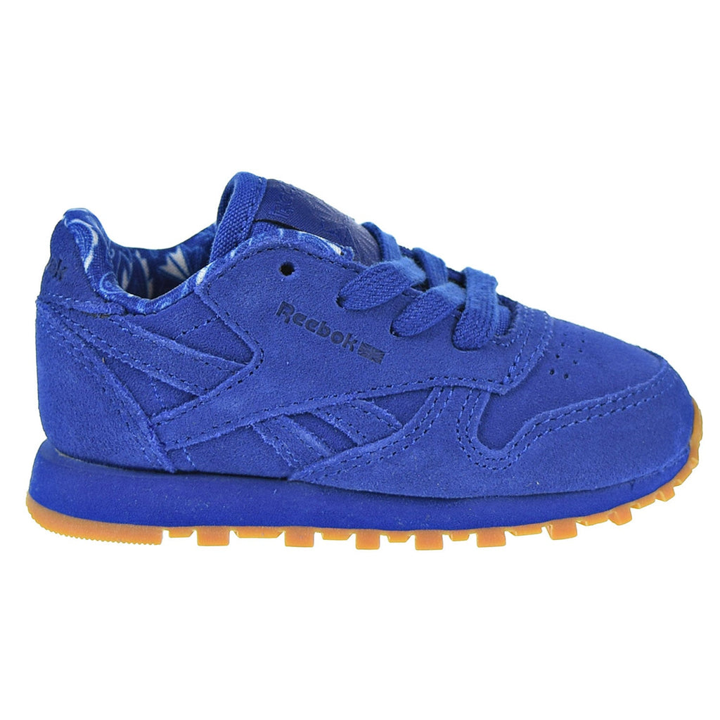 Reebok CL Leather TD Toddler Shoes Collegiate Royal/White