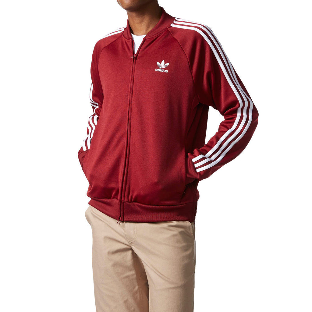 Adidas Originals Superstar Relax Men's Track Top Collegiate Burgundy/White