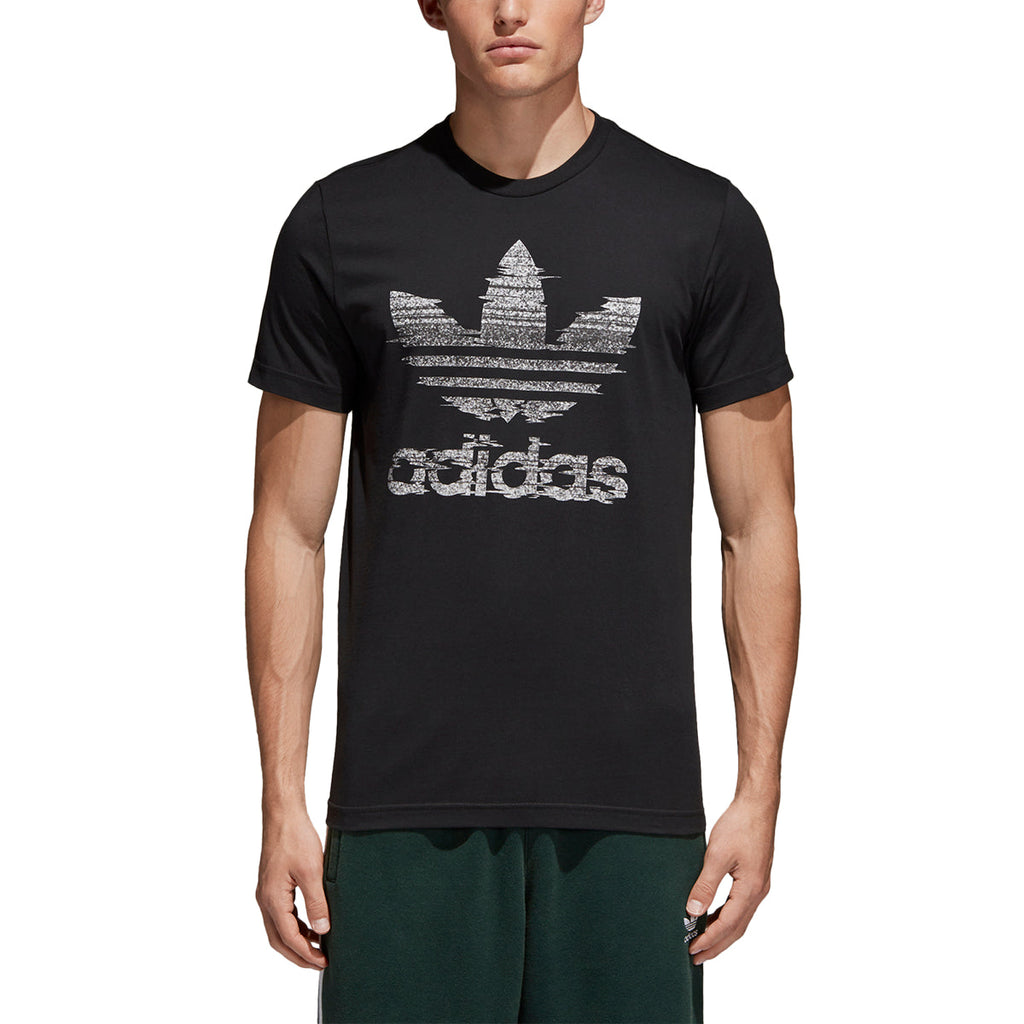 Adidas Men's Originals Traction In Action Trefoil Tee Black/White