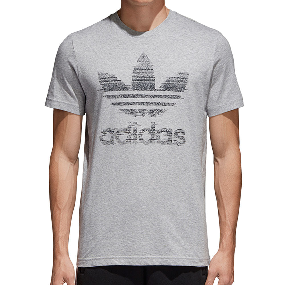 Adidas Traction In Action Trefoil Men's T-Shirt Medium Grey Heather