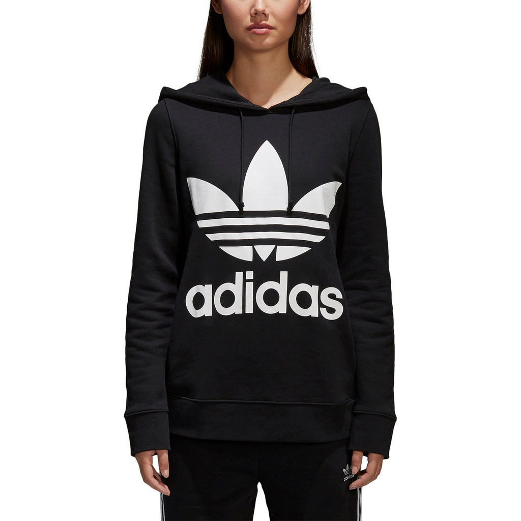 Adidas Women's Originals Trefoil Pullover Hoodie Black/White
