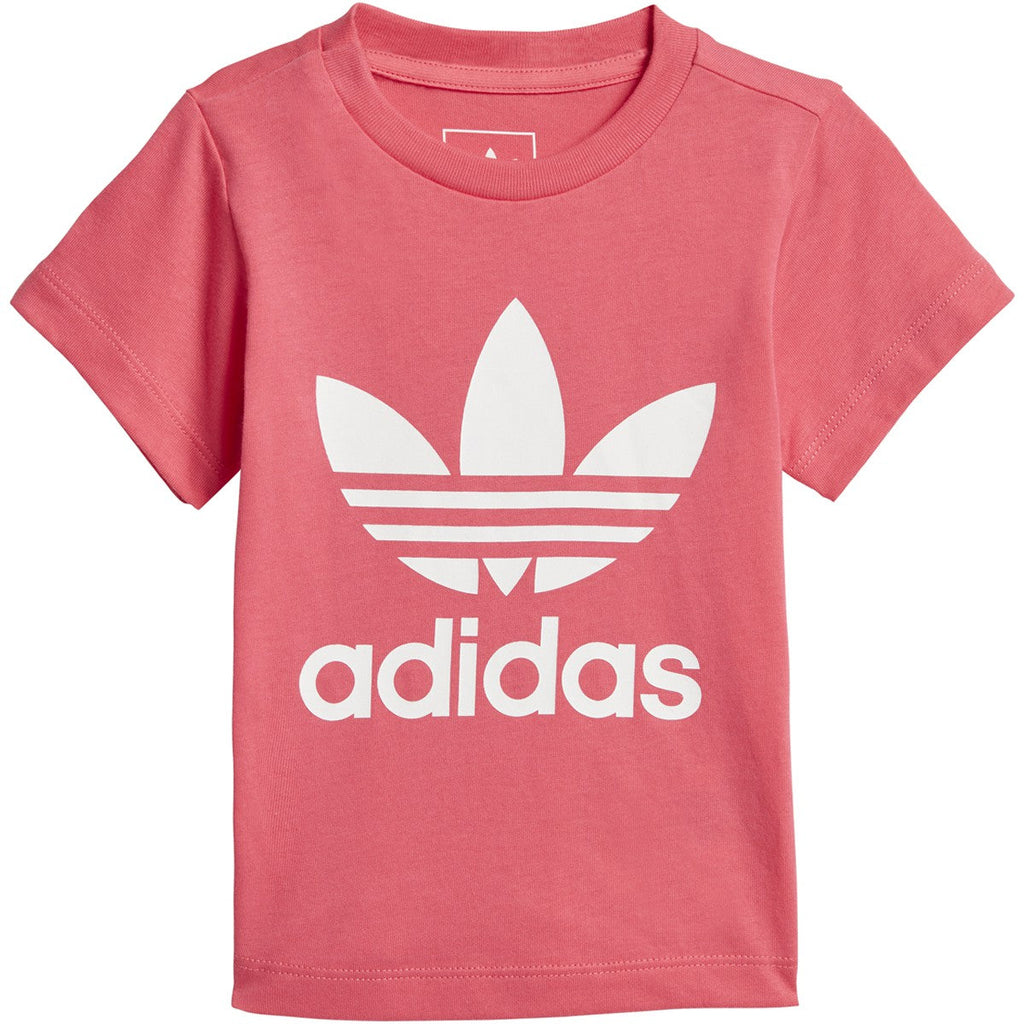 Adidas Originals Baby Girls Trefoil Tee Real Pink/White
