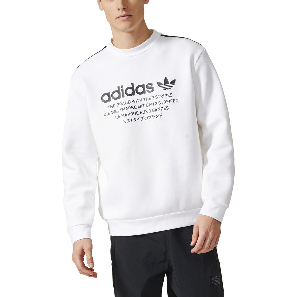 Adidas NMD D Crewneck Long Sleeve Men's Sweatshirt White