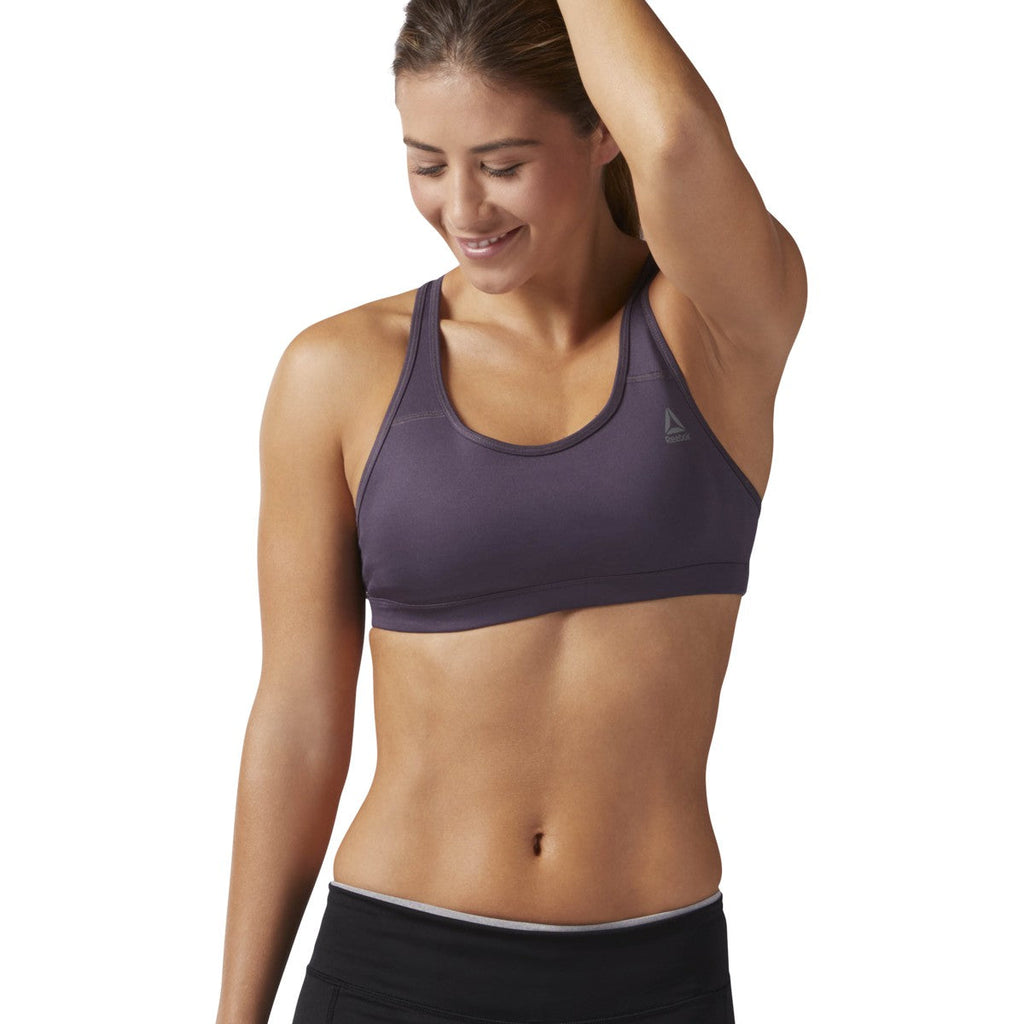 Reebok US Short Sports Bra Smoky Volcano