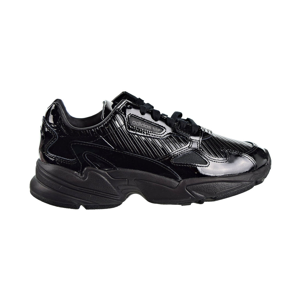Adidas Falcon Women's Shoes Core Black Patent Leather/Collegiate Purple