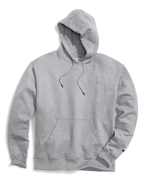 Champion Men's Big & Tall Fleece Pullover Hoodie Heather Grey