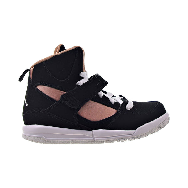 Jordan Flight 45 High Little Kids' Shoes Black-White-Rose Gold