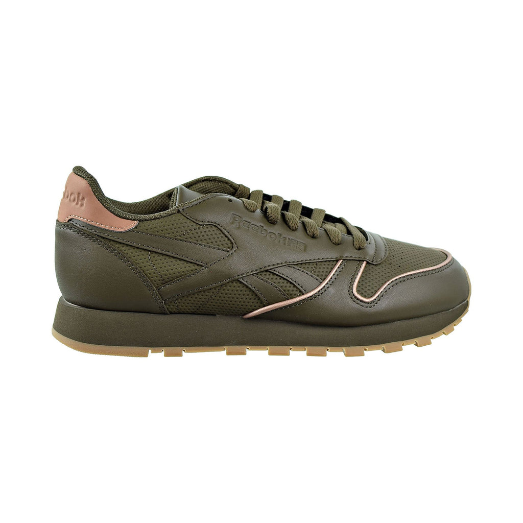 Reebok Classic Leather Men's Shoes Army Green/Rose Gold/Gum