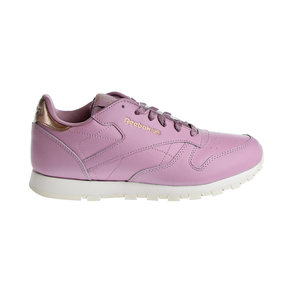 Reebok Classic Leather Big Kids' Shoes Infused Lilac/Chalk