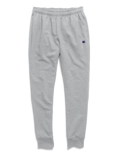 Champion Men's Powerblend Sweats Retro Jogger Pants Heather Grey