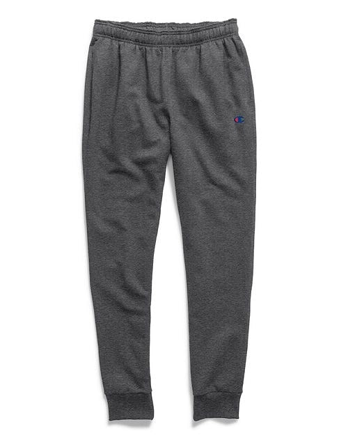 Champion Men's Powerblend Sweats Retro Jogger Pants Granite Heather