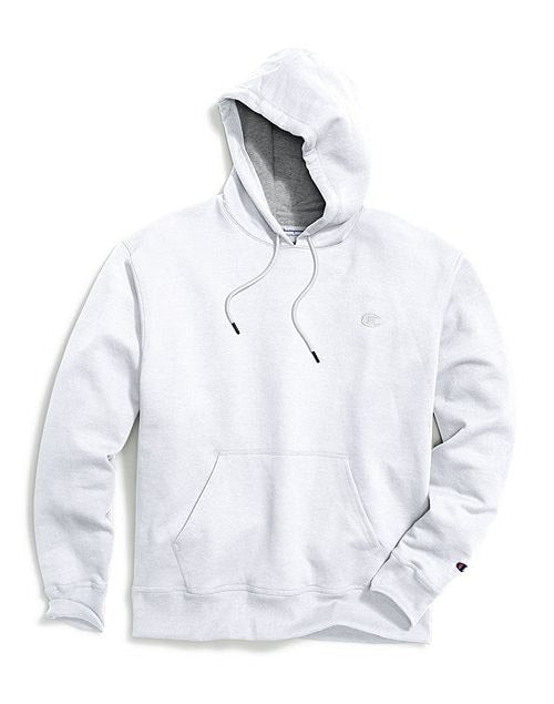 Champion Men's Powerblend Sweats Pullover Hoodie White