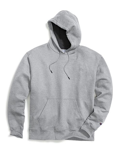 Champion Men's Powerblend Sweats Pullover Hoodie Oxford Grey