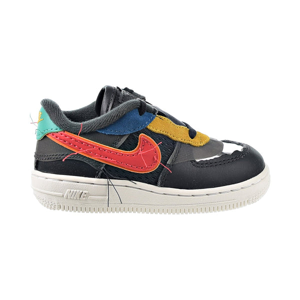 Nike Air Force 1 Black History Month Baby Toddler Shoes Dark Smoke Grey-Track Red