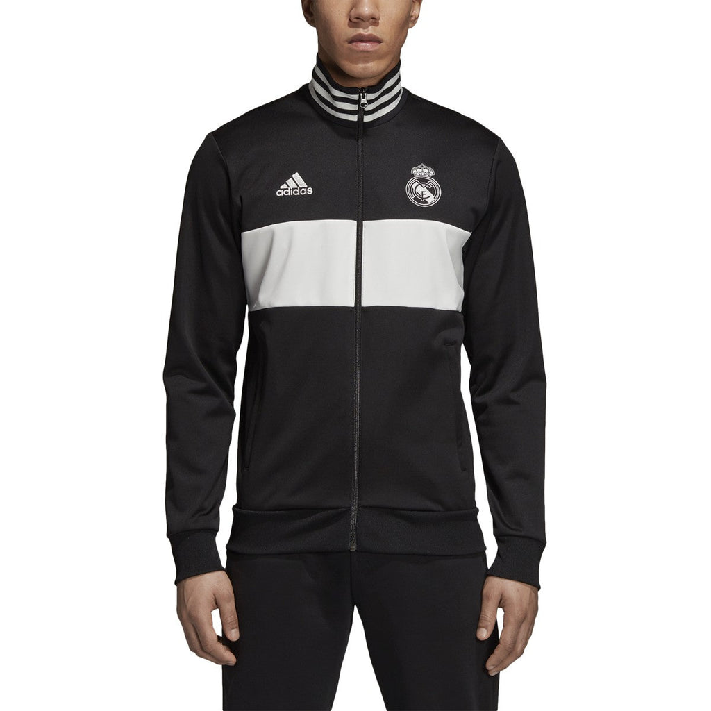 Adidas Men's Soccer Real Madrid 3-Stripes Track Jacket Black/Core White