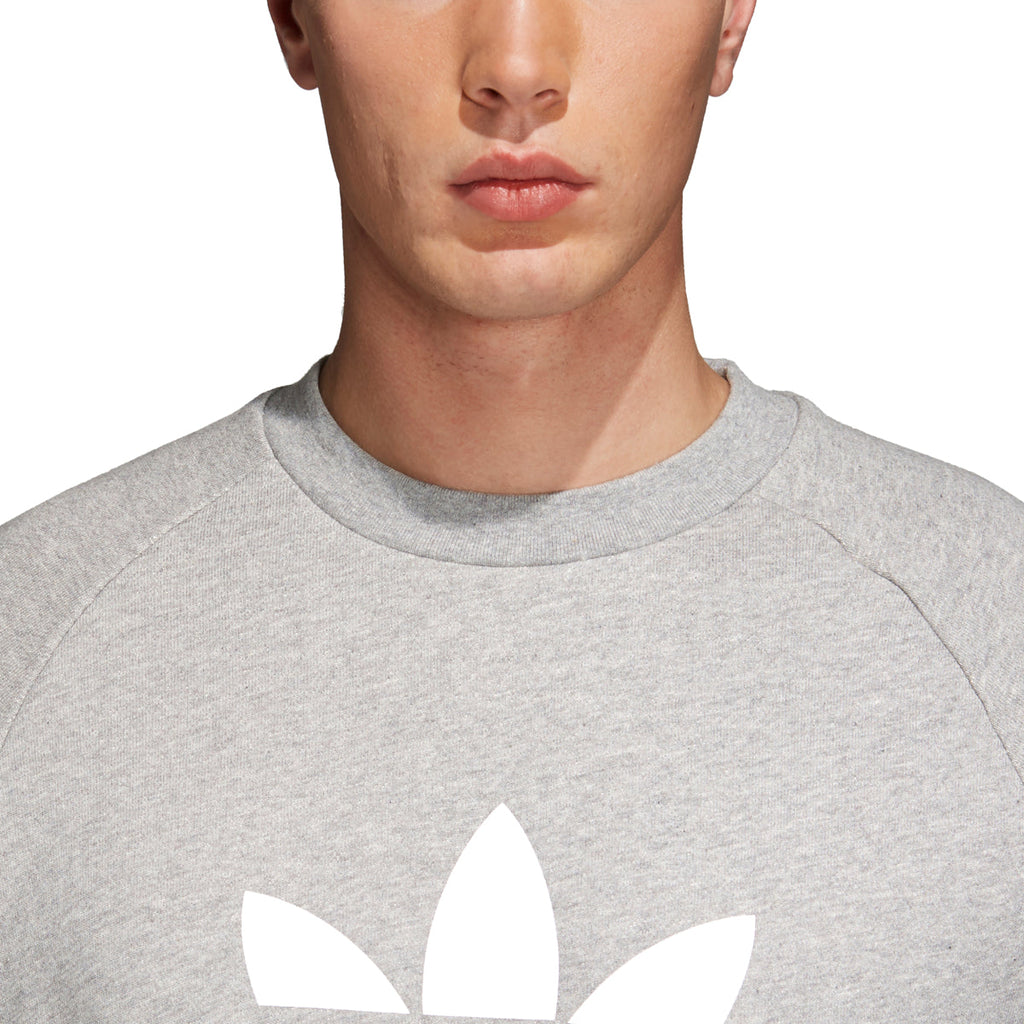 Adidas Men's Originals Trefoil Warm-Up Crew Sweatshirt Medium Grey Heather