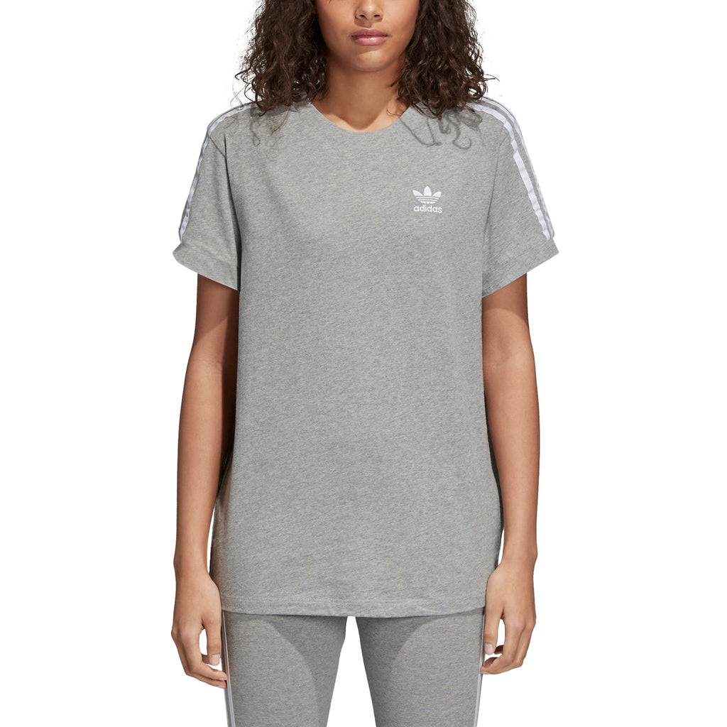 Adidas Originals 3-Stripes Women's Fashion Shirt Grey/White