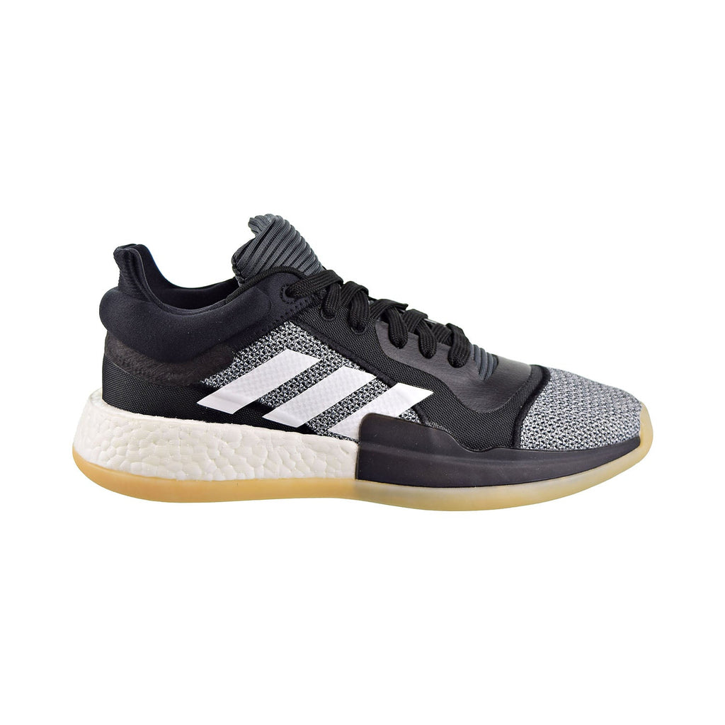 Adidas Marquee Boost Low Men's Shoes Core Black/Cloud White/Shock Cyan
