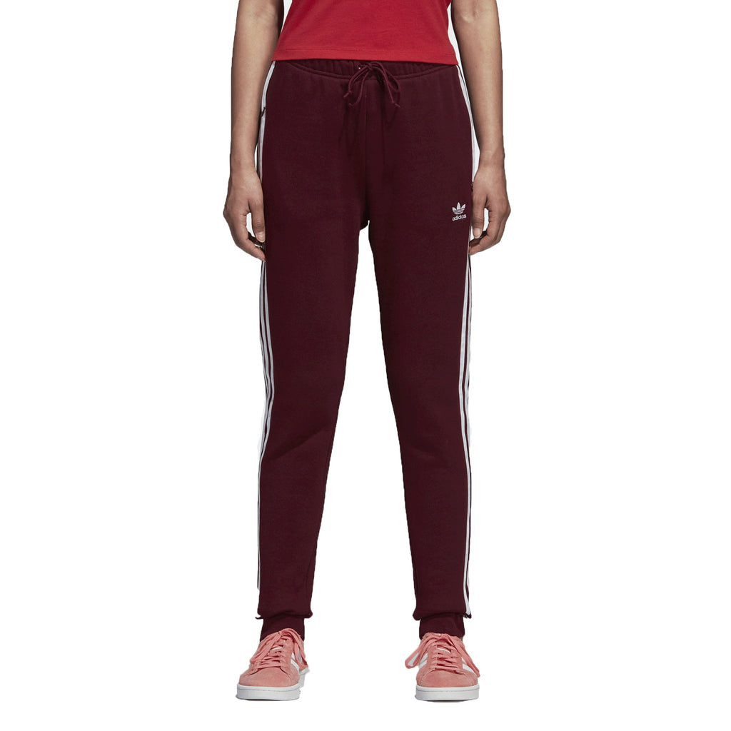 Adidas Originals Trefoil Women's Cuffed Track Pants Maroon/White