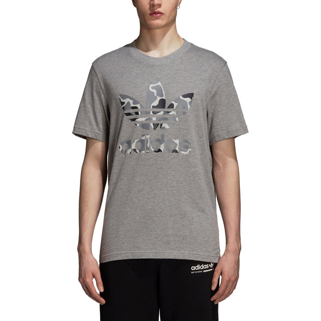 Adidas Originals Camouflage Trefoil Men's Tee Grey Heather/Black-White