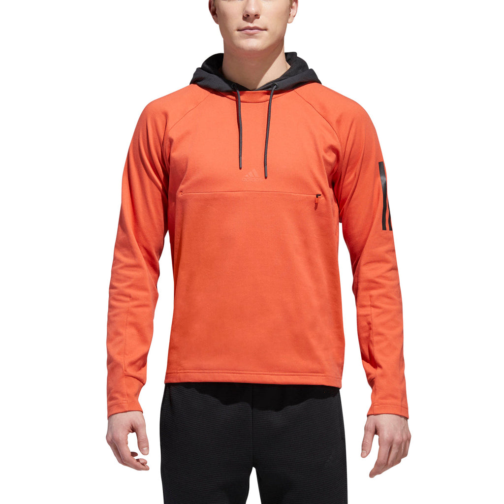 Adidas Men's Athletics Sport 2 Street Lifestyle Pullover Hoodie Raw Amber-Carbon