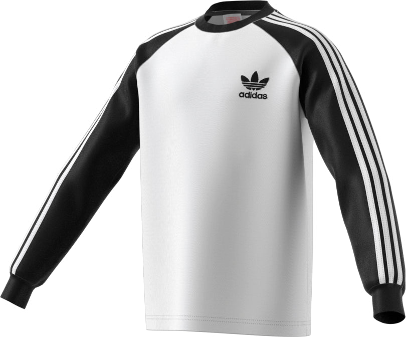 Adidas Kid's Originals California Long Sleeve Tee White/Black/White
