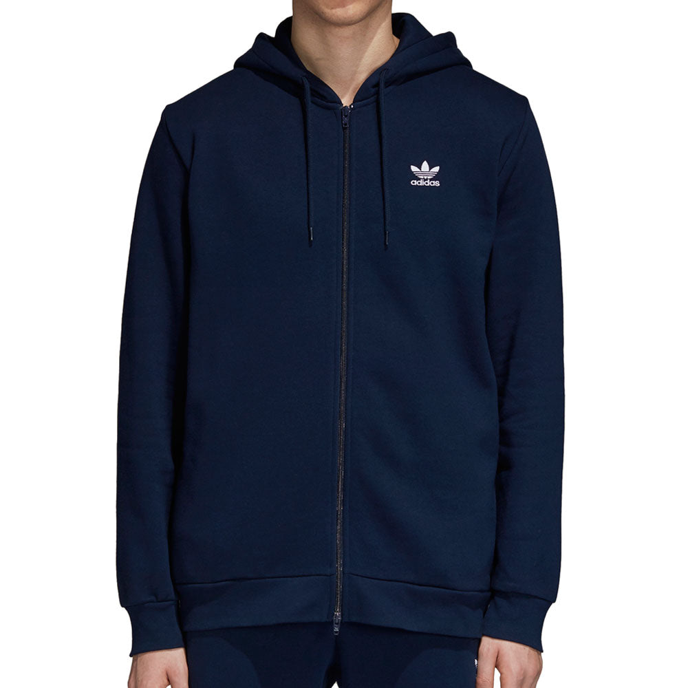 Adidas Originals Fleece Trefoil Men's Full Zip Hoodie Collegiate Blue/White