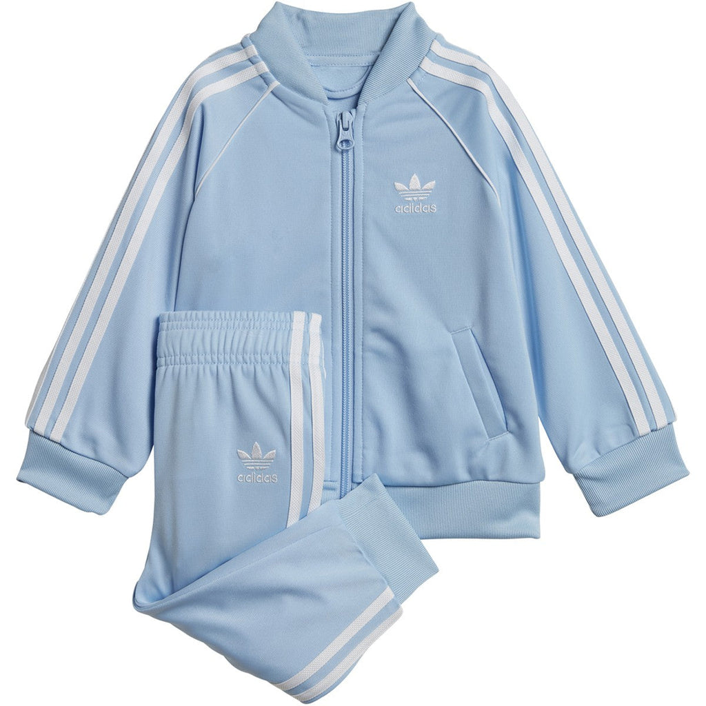 Adidas Infant & Toddler Originals Superstar Track Suit Clear Sky / White