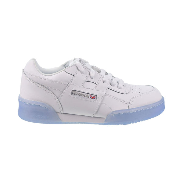 Reebok Workout Plus Big Kids' Shoes White-Carbon-Blue