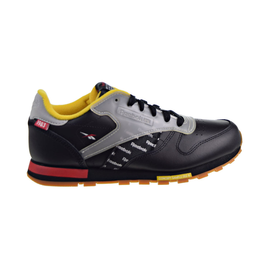 Reebok Classic Leather Altered Big Kids' Shoes Black/Red/Yellow/Grey