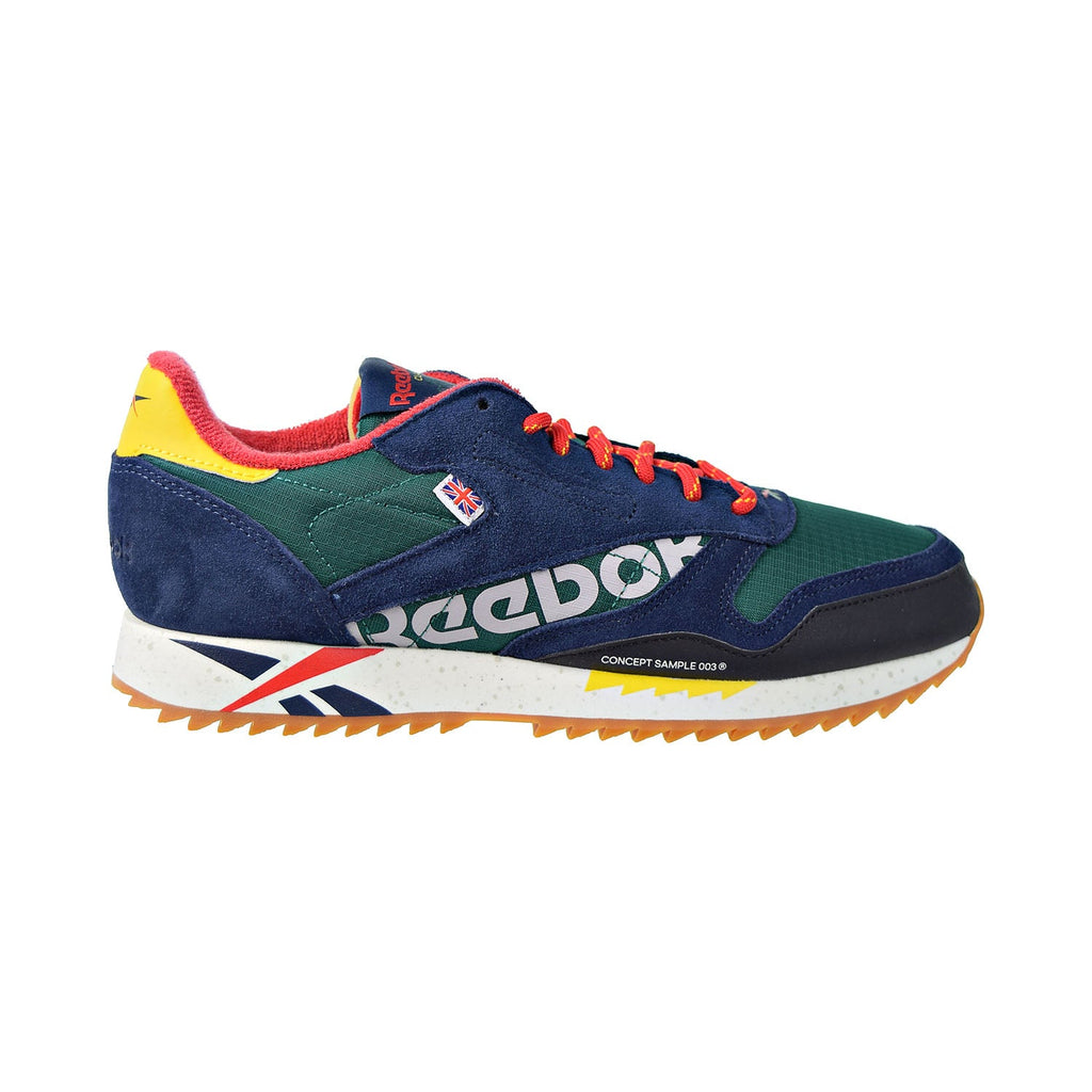 Reebok Classic Leather Ripple MU Mens Shoes Green/Red/Yellow/Chalk