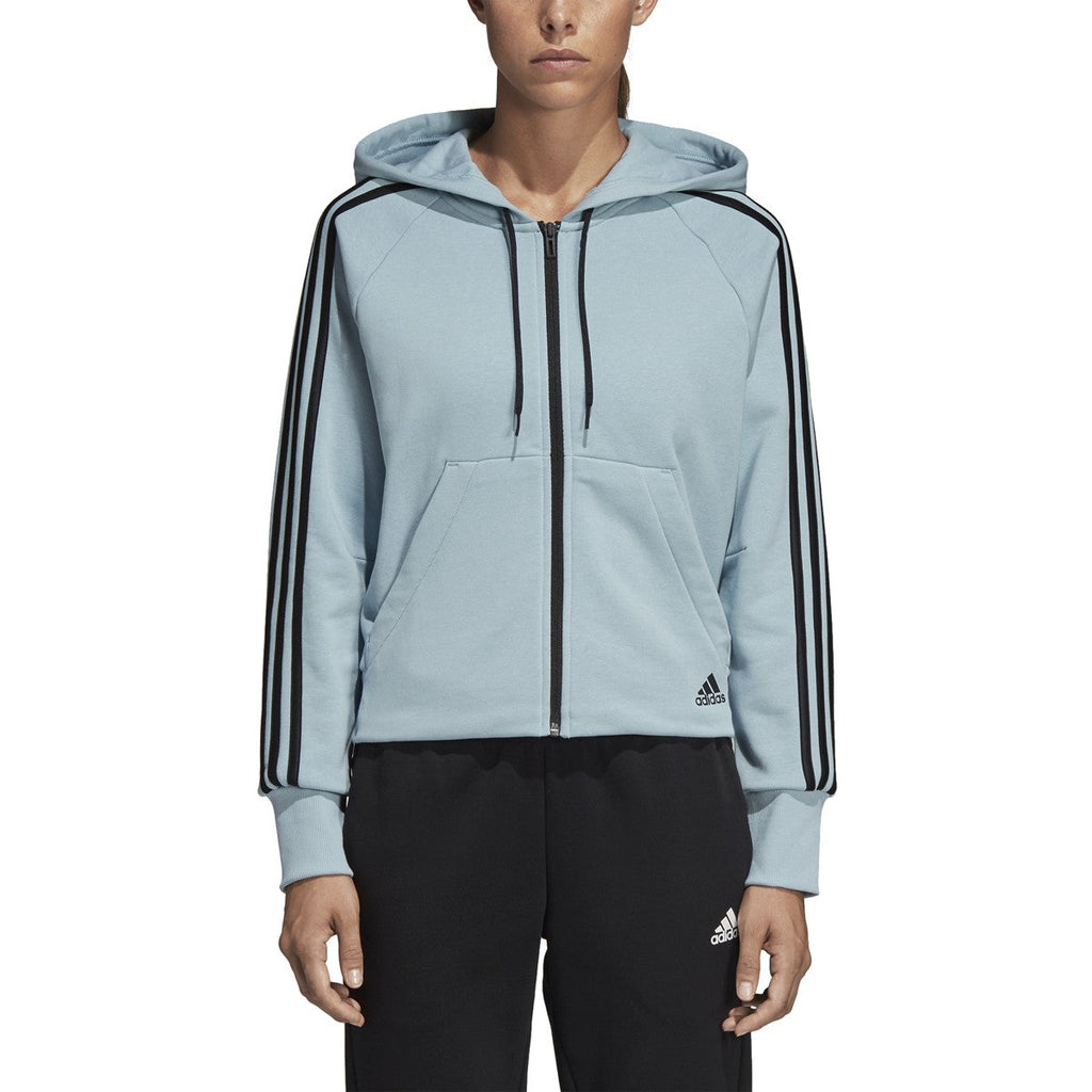 Adidas Women's Athletics Must Have 3-Stripes French Terry Hoodie Ash Grey