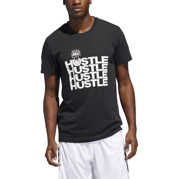 Adidas  Men's New Hustle Graphic Tee Black