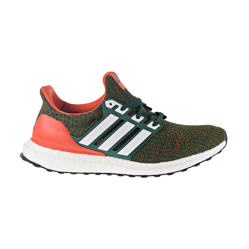 Adidas Ultraboost Men's Shoes Dark Green/Cloud White/Collegiate Orange