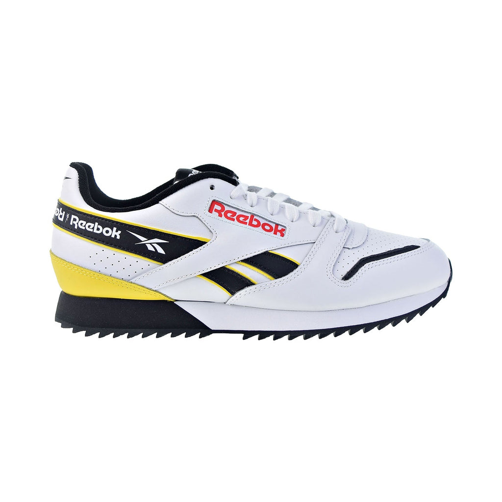 Reebok Classic Leather RippIe Men's Shoes White-Black-Primal Red