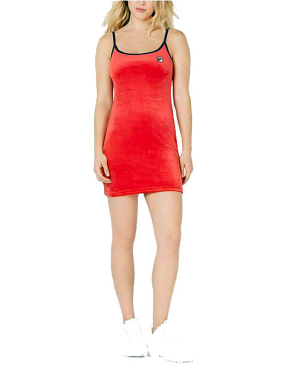 Fila Women's Dylana Cami Bodycon Dress Red