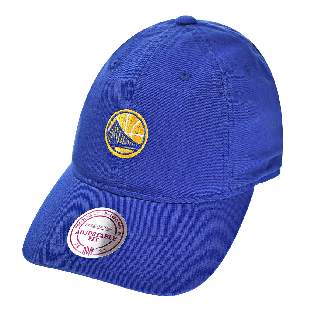 Mitchell & Ness Golden State Warriors Team Prim Color Men's Strapback Hat Blue