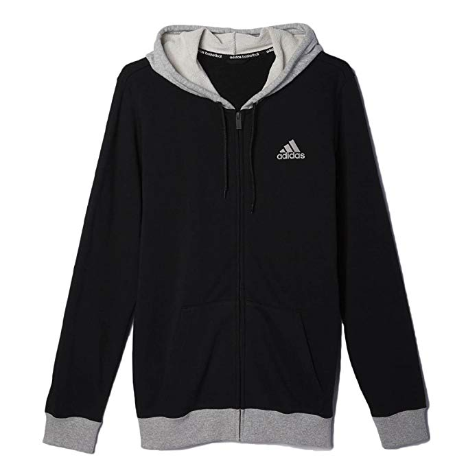 Adidas Men's Basketball Everyday Hoodie Black/Grey Heather