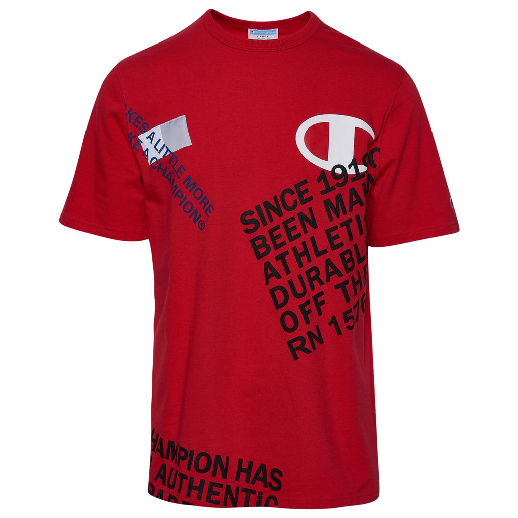 Champion Men's Heritage Graphic Tee Team Red