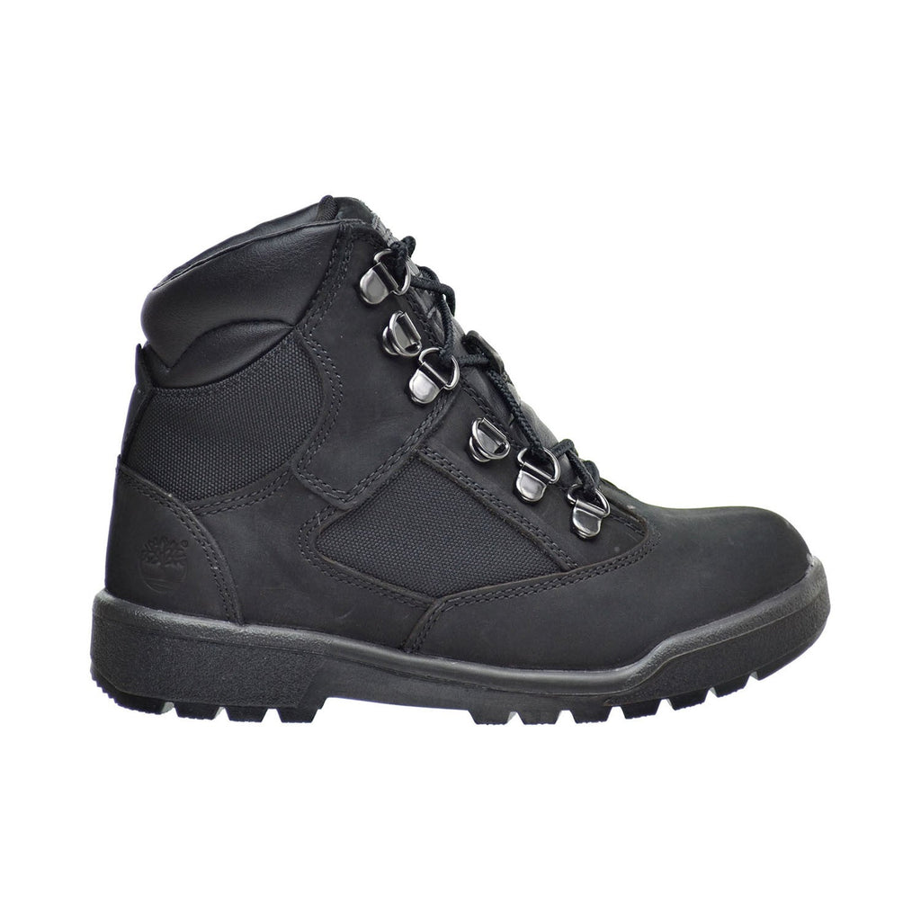 Timberland 6 Inch F/L Field Little Kid's Boots Black Nubuck