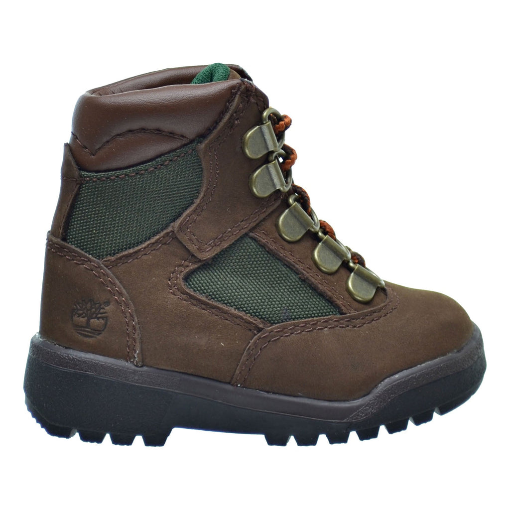 Timberland 6 inch F/L Toddler's Field Boots Brown Nubuck/Green