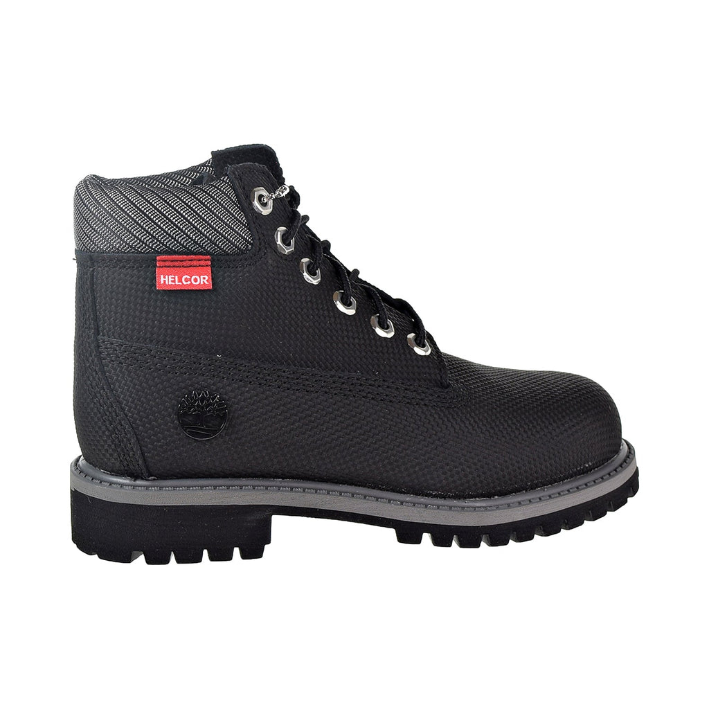 "Timberland 6"" Premium Boot Little Kid's Shoes Black Helcor"