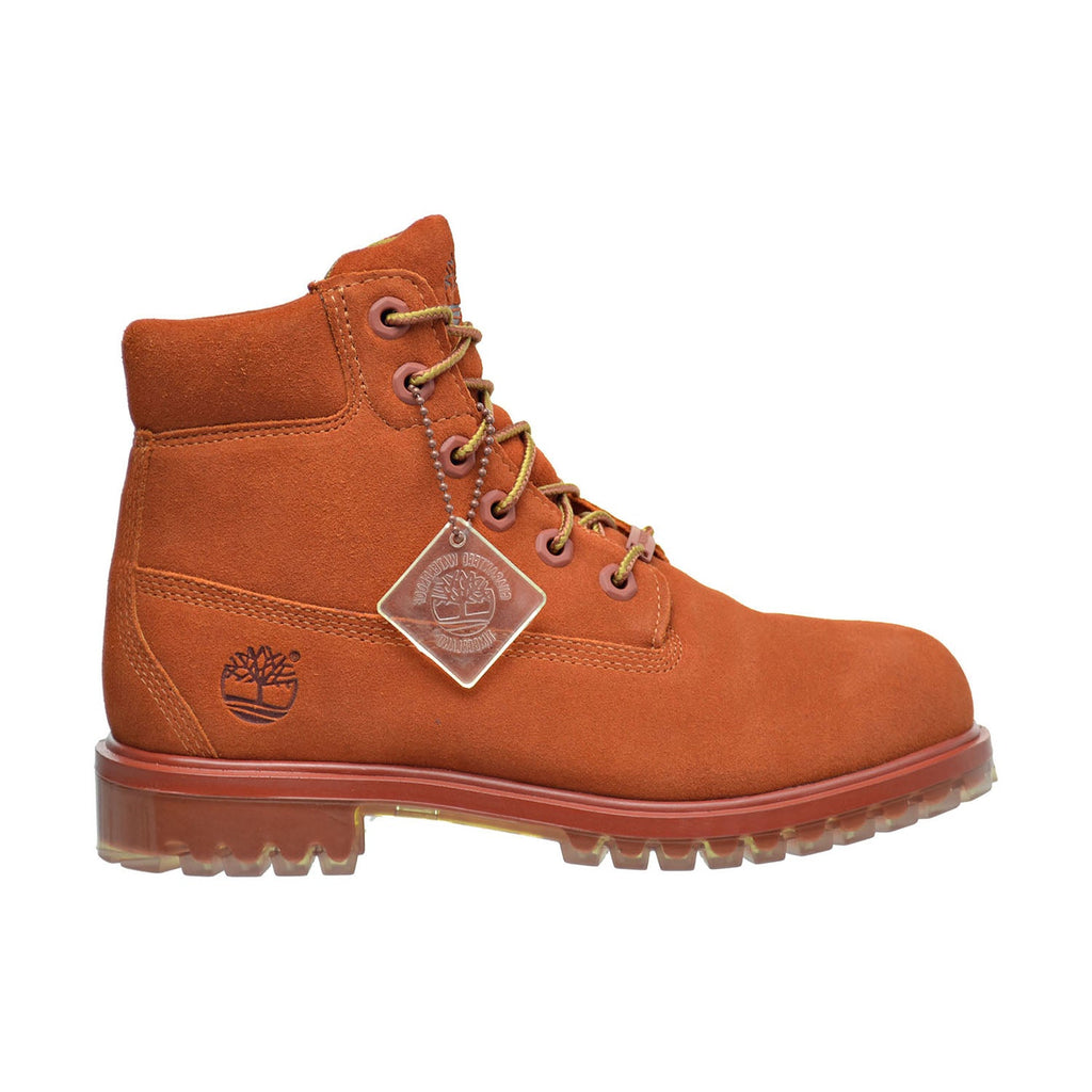 Timberland 6 Inch TPU Outsole Waterproof Suede Premium Big Kid's Boots Rust