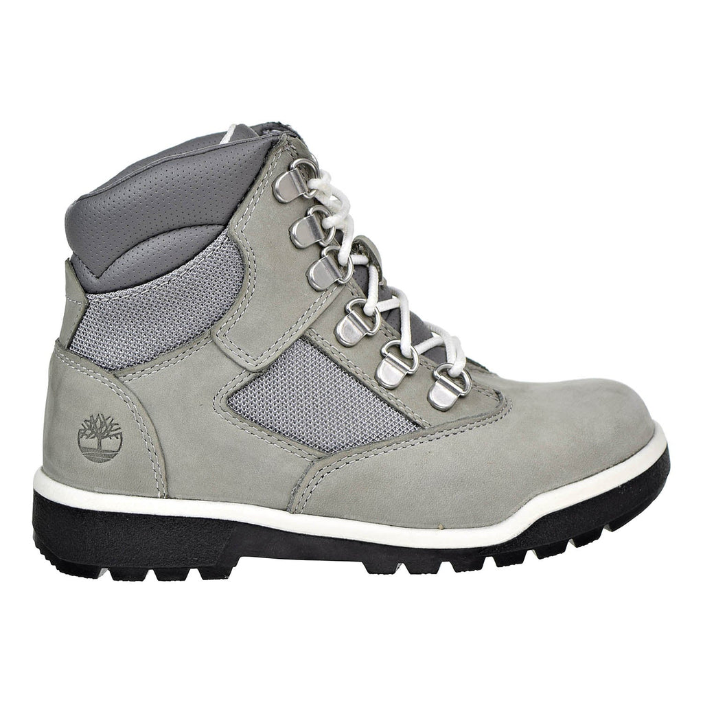 Timberland 6 Inch Little Kids Field Boots Grey Nubuck