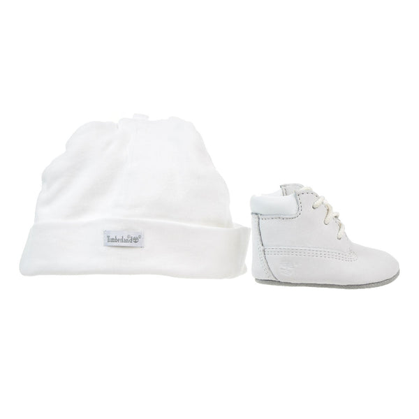 Timberland Infant/Crib's Booties with Hat White