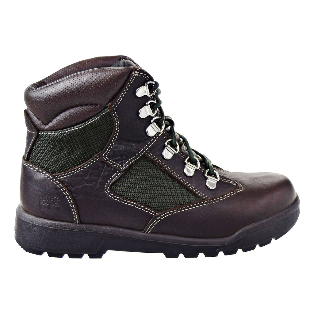 Timberland 6 Inch Field Big Kids Boots Dark Brown/Green