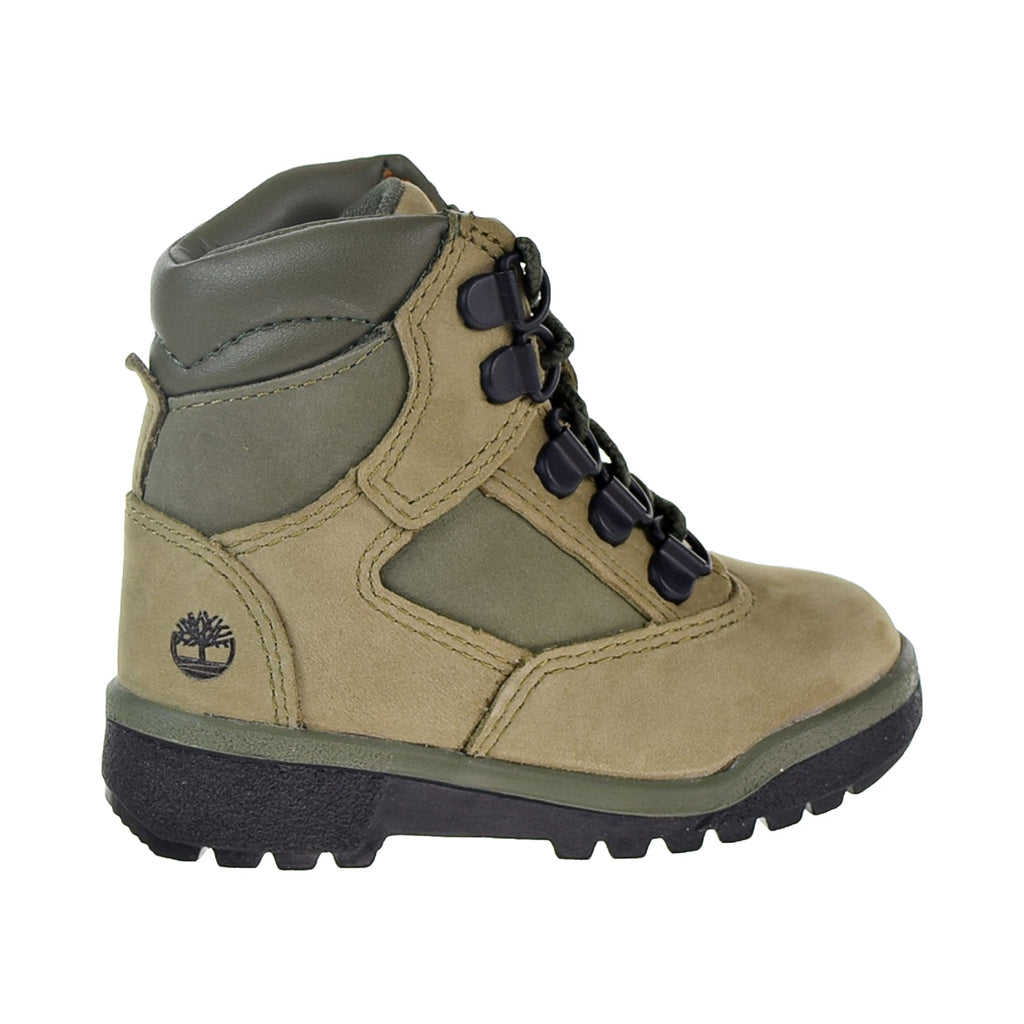 Timberland 6 Inch Field Boot Toddler's Shoes Light Green