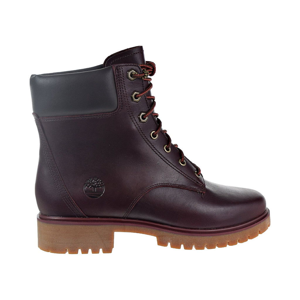 "Timberland Jayne 6"" Waterproof Women's Boots Burgundy Full Grain"