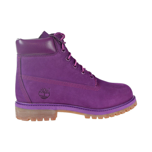 Timberland Premium 6 Inch Waterproof Boot Big Kids' Shoes Bright Purple